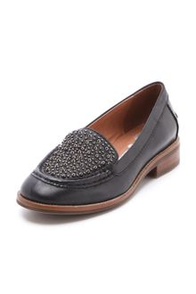 Jeffrey Campbell Pupil Mix Stud Loafers - Lyst