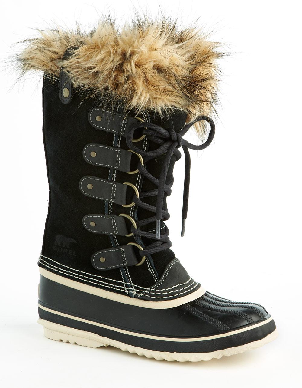 sorel joan of arctic boots in black blk lyst. Black Bedroom Furniture Sets. Home Design Ideas