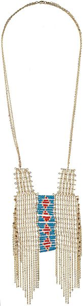 Topshop Earth Child Mega Necklace in Multicolor (multi)