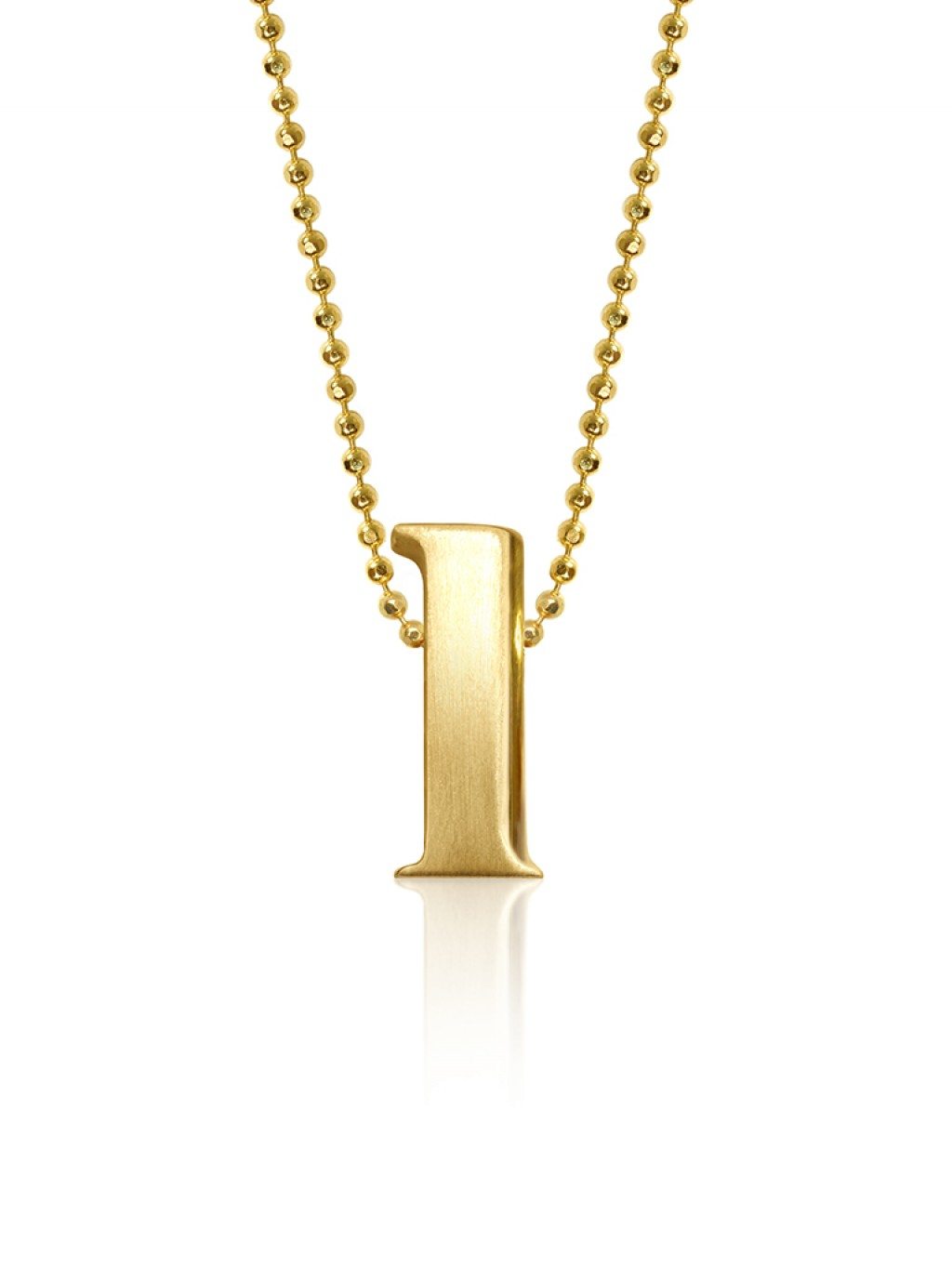 BaubleBar Alex Woo Gold Alpha Pendant in Metallic