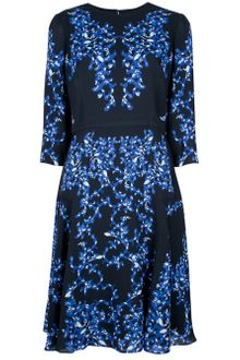 Erdem Leaf Print Dress - Lyst