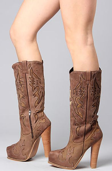 Jeffrey Campbell The Trejo Boot In Beige Suede In Brown