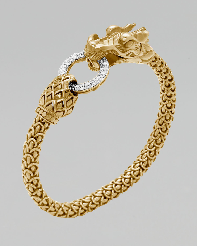 Lyst John Hardy Gold Naga Dragon Diamond Oring Bracelet