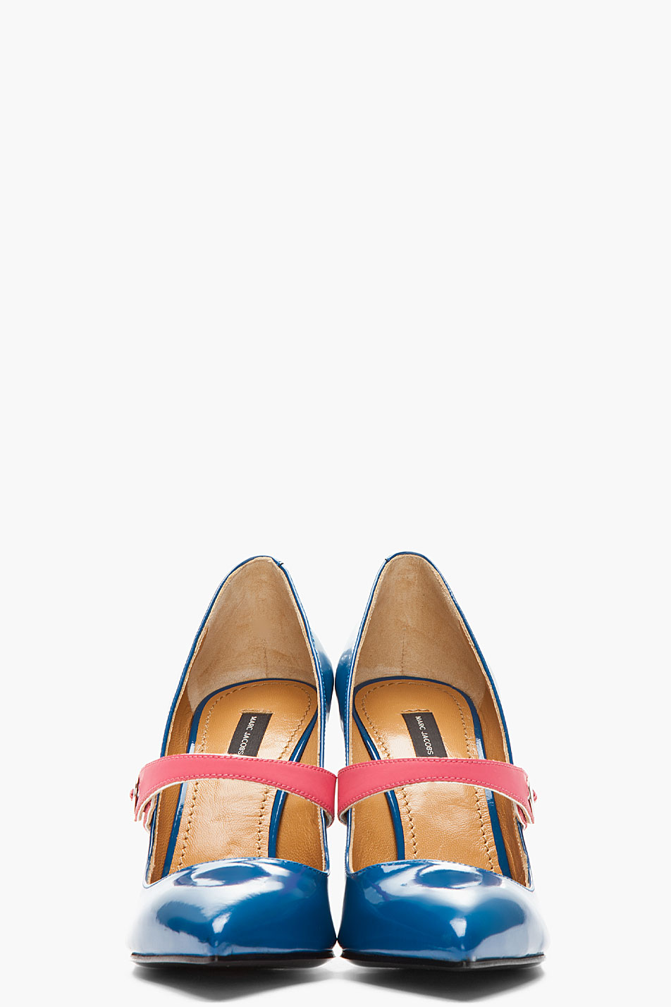 Lyst Marc Jacobs Patent Blue Pinkstrapped Heels In Blue