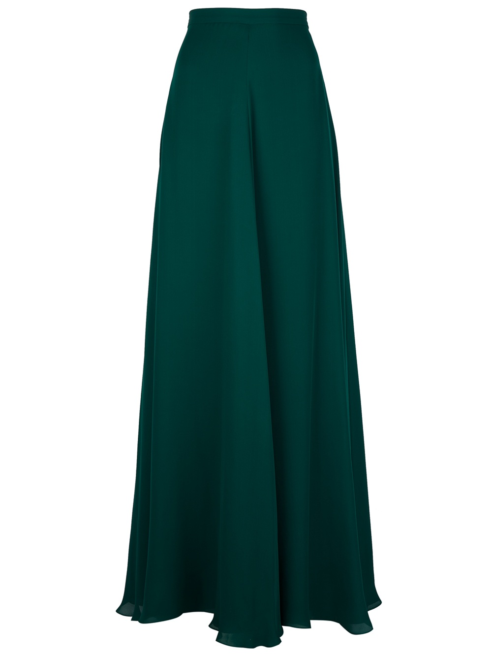oscar de la renta maxi skirt in green lyst