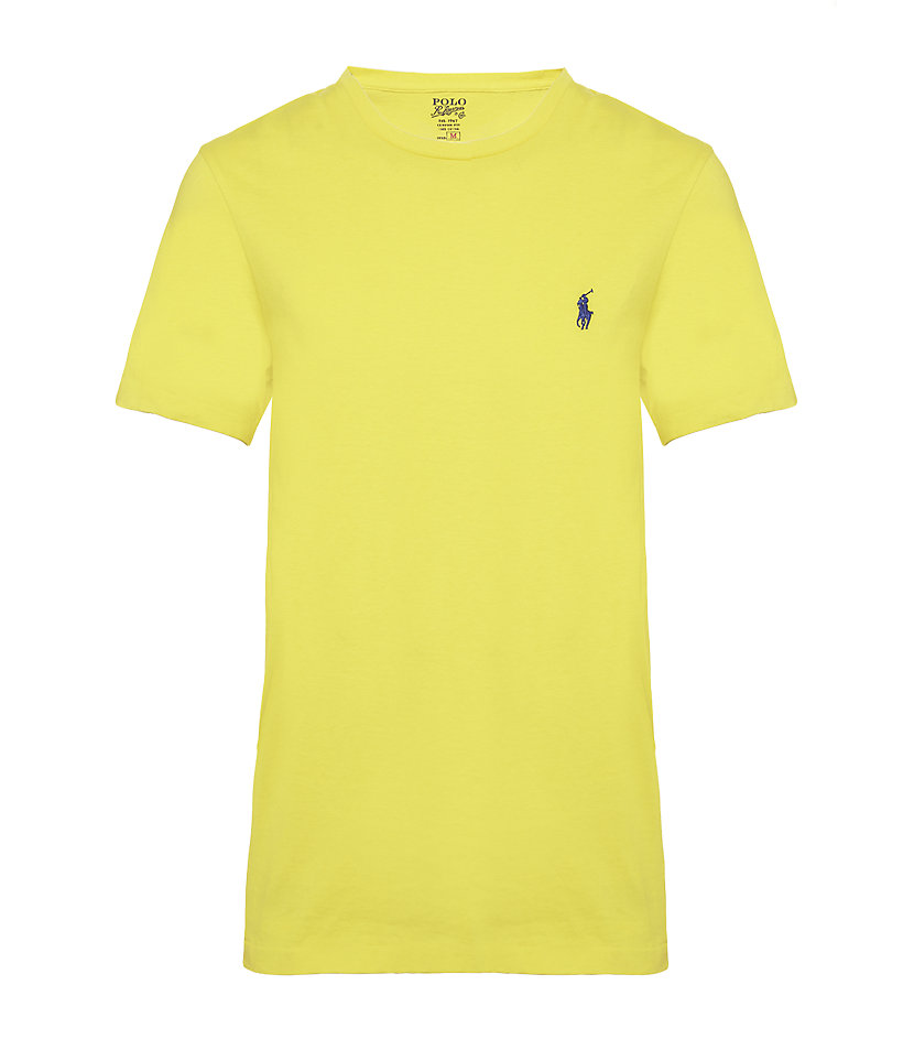polo ralph lauren slim fit tshirt in yellow for men lyst. Black Bedroom Furniture Sets. Home Design Ideas