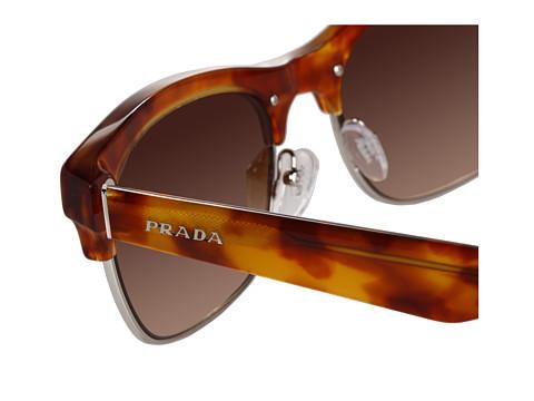 Prada Half Frame Glasses : Prada Half Frame Sunglasses in Brown (l) Lyst