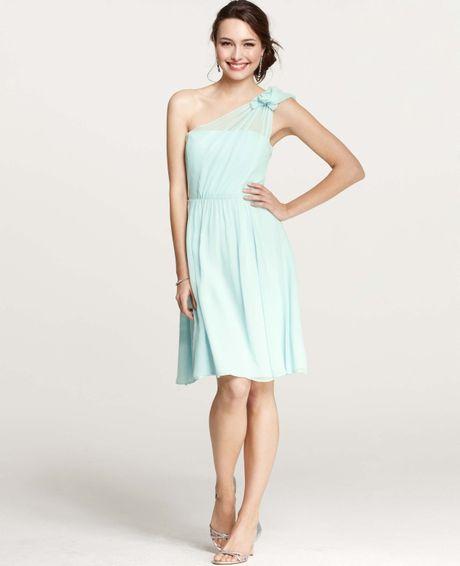 Ann Taylor Wedding Dresses: Ann Taylor Petite Silk Georgette Flower One Shoulder