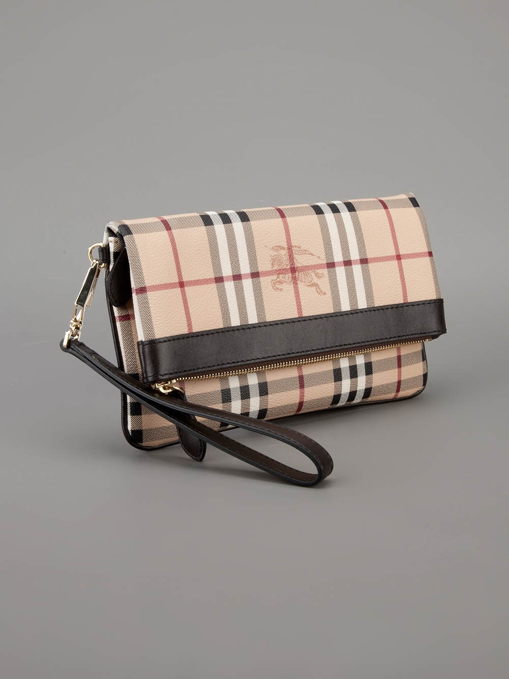 fb24176c9089 Burberry Adeline Clutch in Natural - Lyst