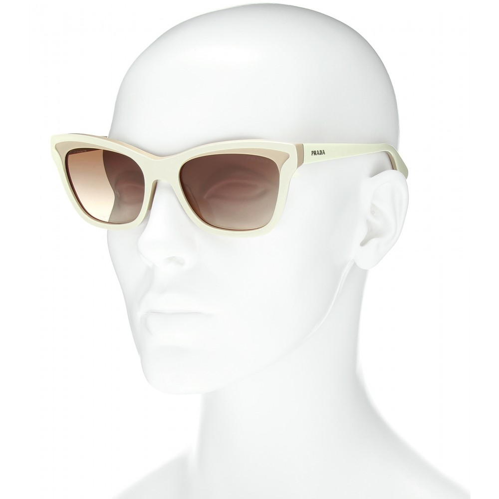 Prada Winged Frame Sunglasses in Natural Lyst