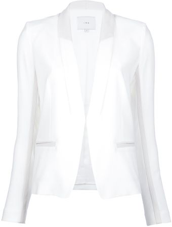 Iro Leather Detail Blazer - Lyst
