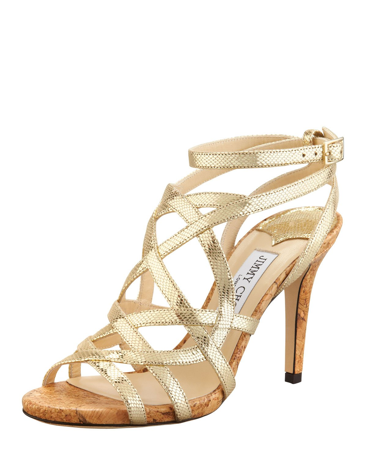 Metallic Gold Sandals Heels - Is Heel