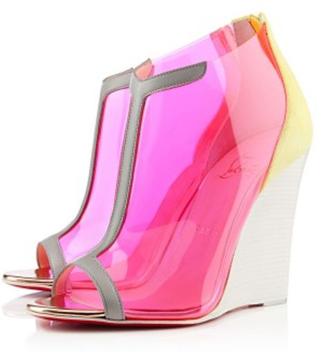 Christian Louboutin Scuba Wedges In Transparent Lyst