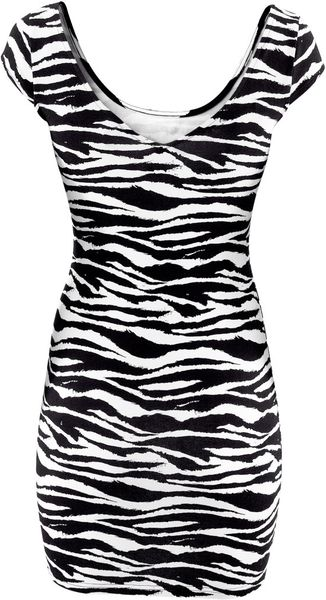 H&m Dress in Animal (zebra)