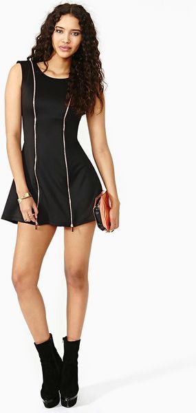 Nasty Gal Zip Code Dress In Black Lyst