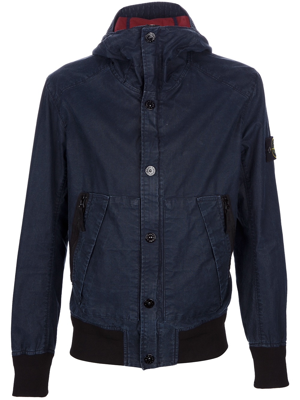 Stone island Hooded Jacket in Blue for Men - Lyst