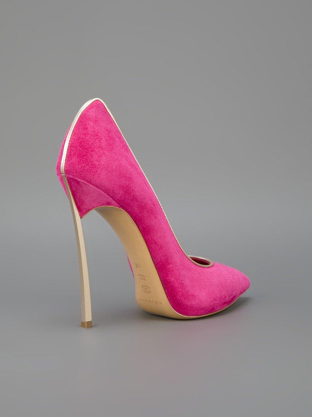 pink pointy heels qu heel