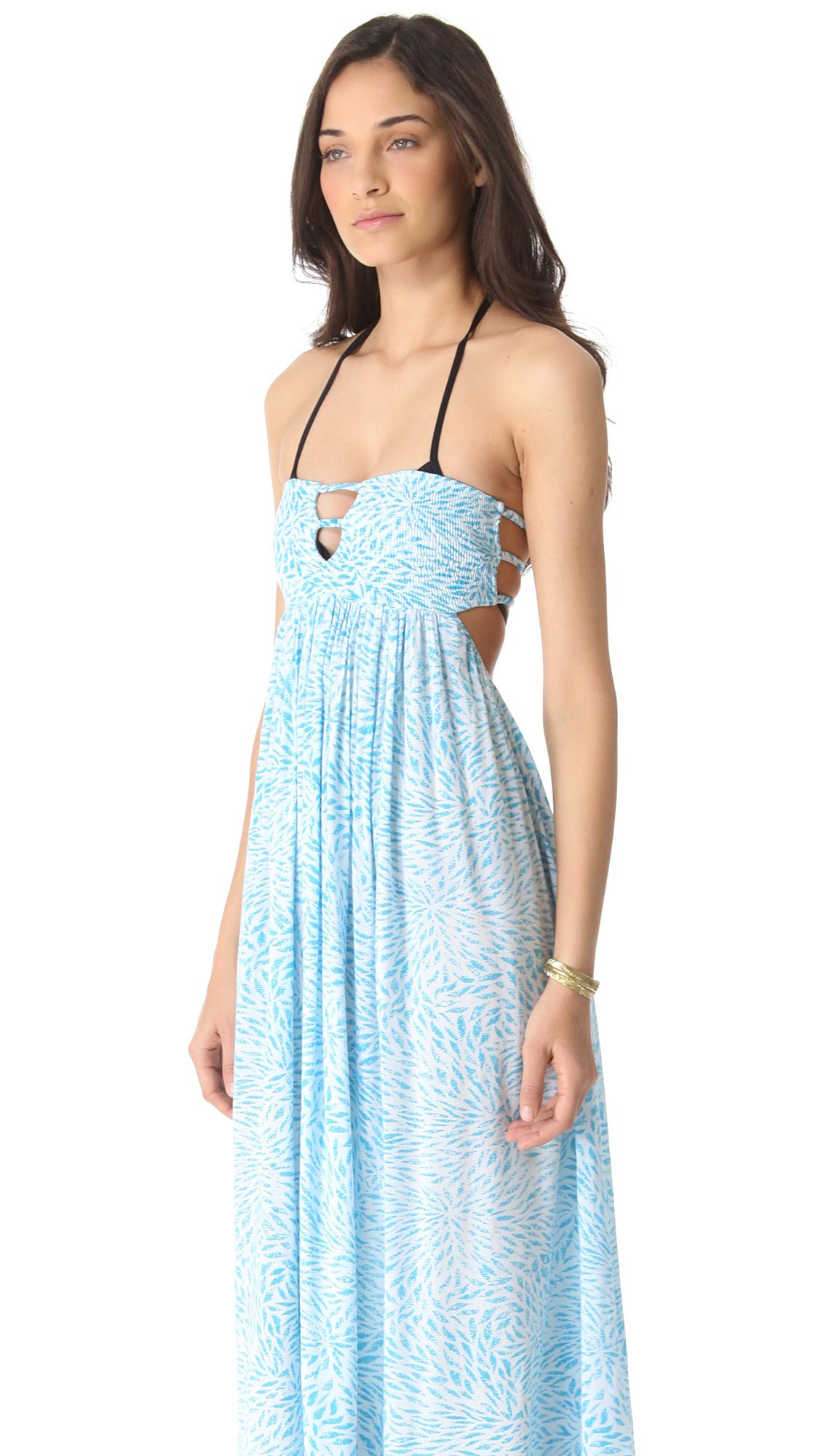 Indah flamingo maxi dress white xl