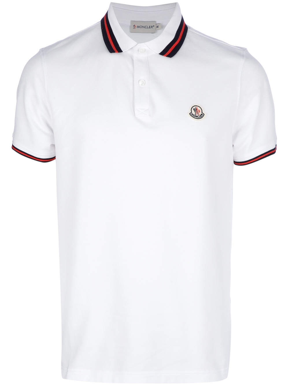 8f35ea1b Moncler Classic Polo Shirt in White for Men - Lyst