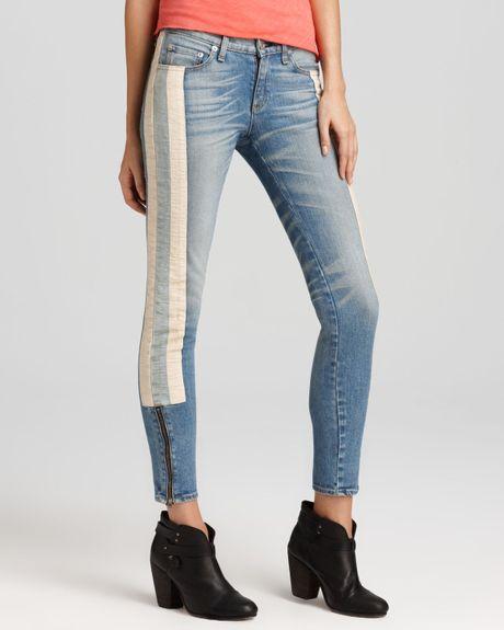 Rag u0026 Bone Jeans The Skinny Racer in Relay Wash in Blue (relay) | Lyst