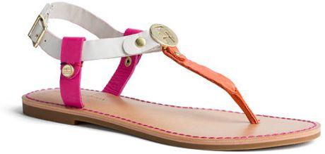 tommy hilfiger julia sandal in white bright pink red. Black Bedroom Furniture Sets. Home Design Ideas