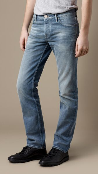 Burberry Steadman Vintage Stonewash Slim Fit Jeans in Blue for Men (knebworth vintage)