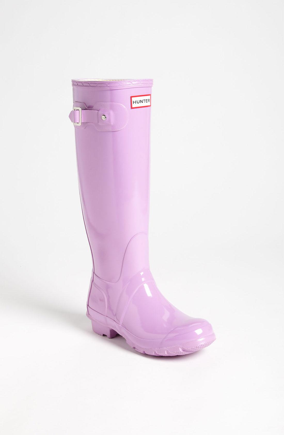 Hunter Original Tall Gloss Rain Boot Women in (wisteria ...