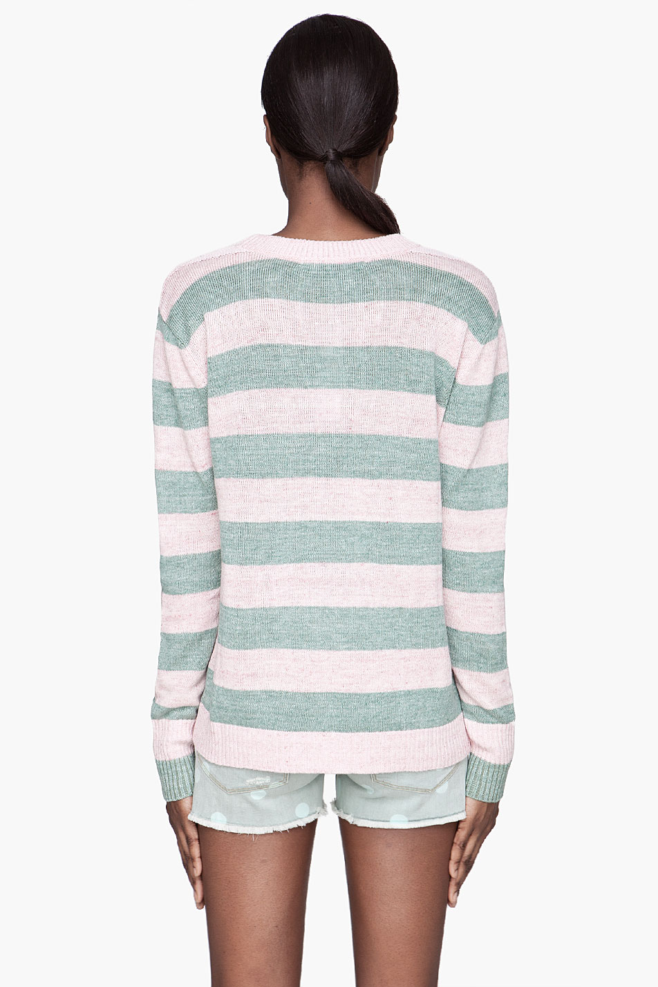 marc by marc jacobs sweater winnie stripe in green lyst. Black Bedroom Furniture Sets. Home Design Ideas