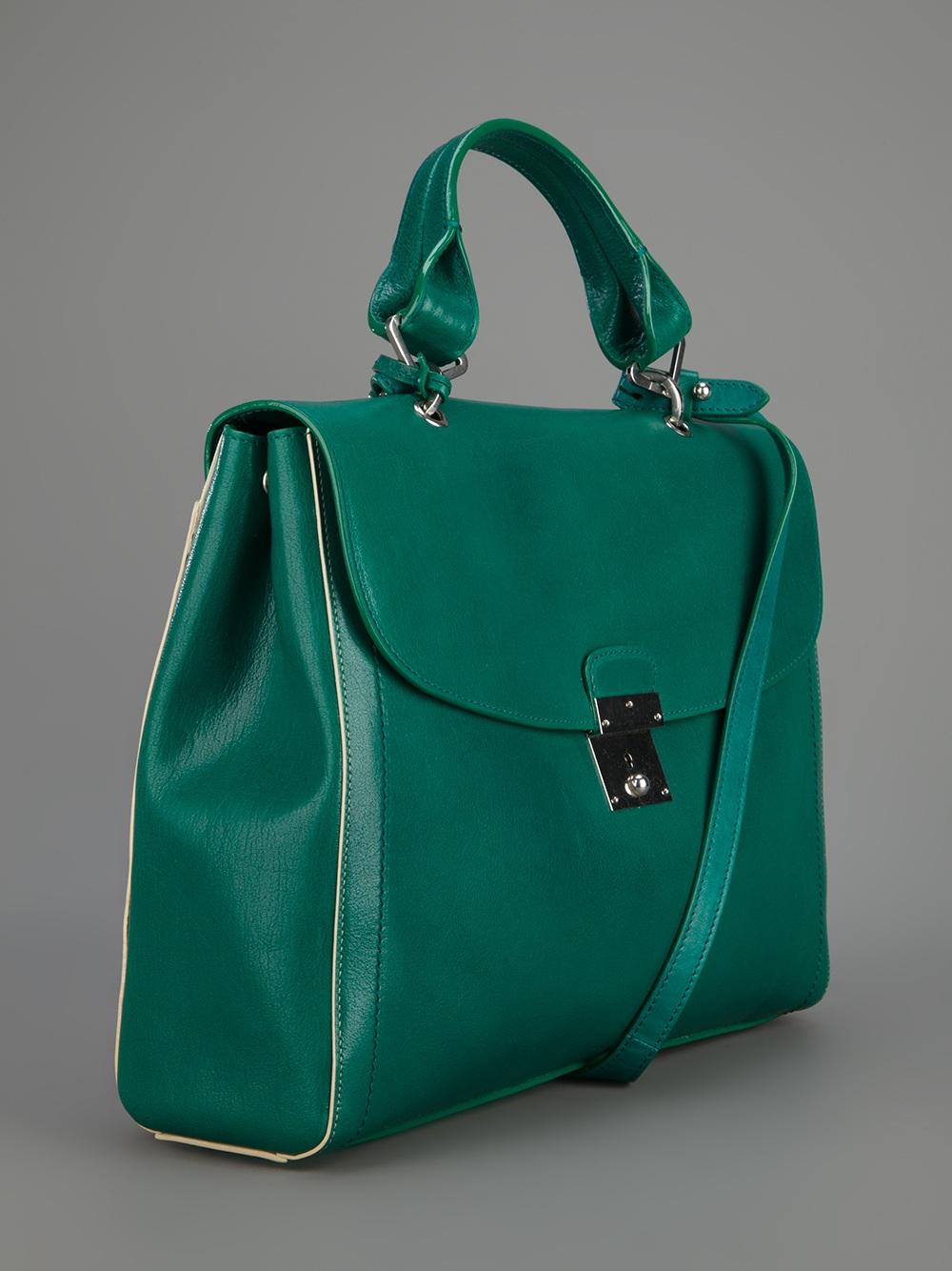 Marc Jacobs Padlock Tote Bag in Green