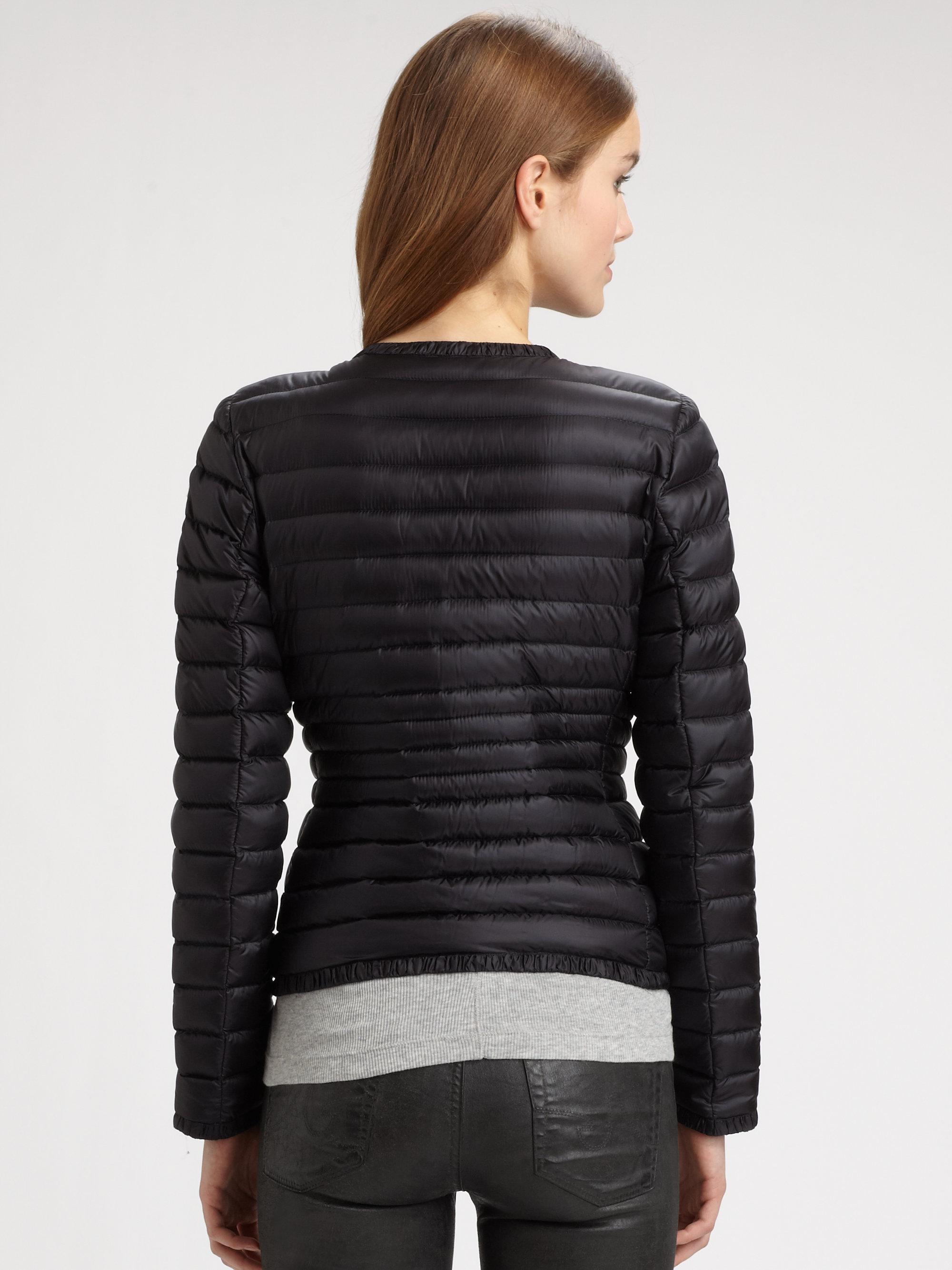 Lyst Moncler Ladis Longue Season Jacket In Black