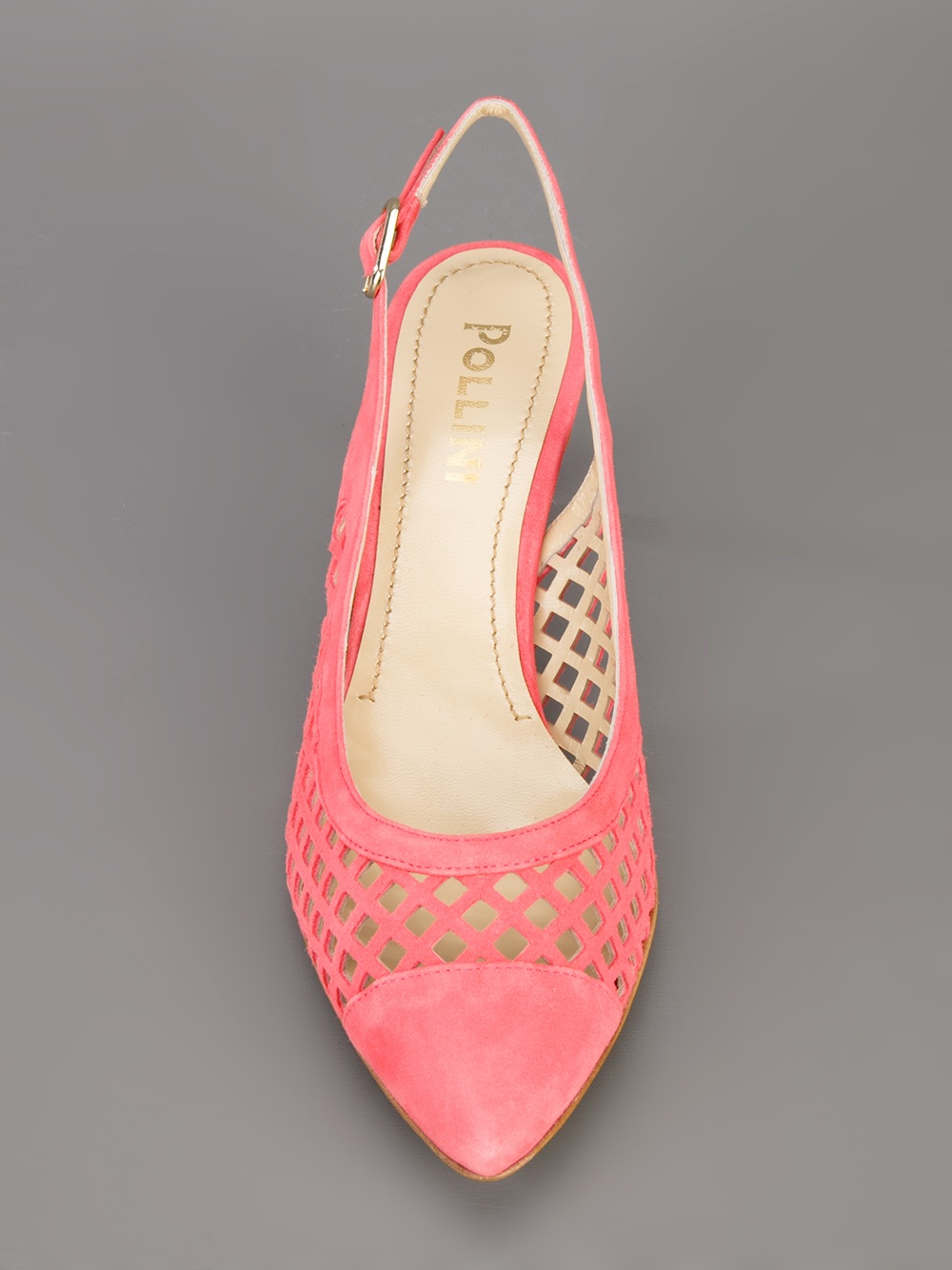 Pink Kitten Heel Sandals