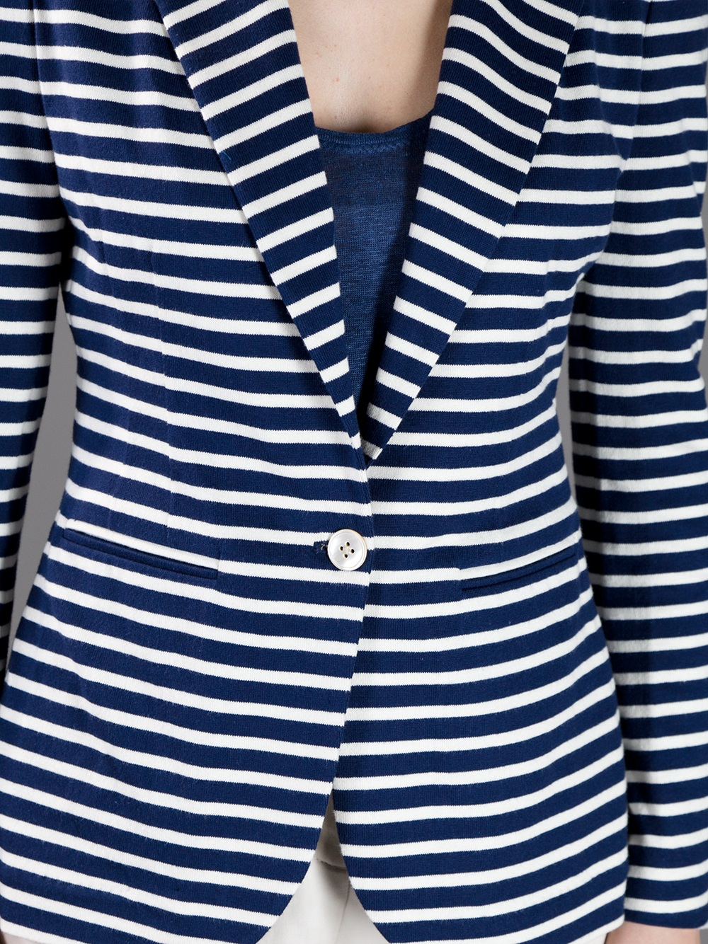 Lyst Ralph Lauren Blue Label Striped Blazer In White