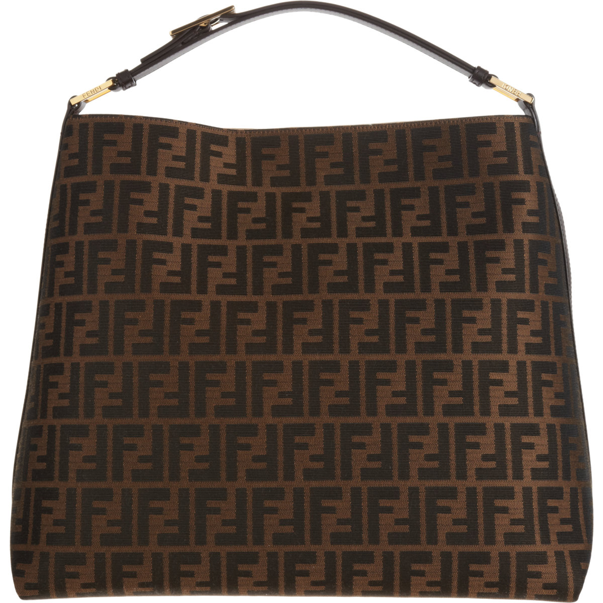 ... clearance fendi zucca hobo bag in brown lyst d1414 67c7f 87f59e60bfb93