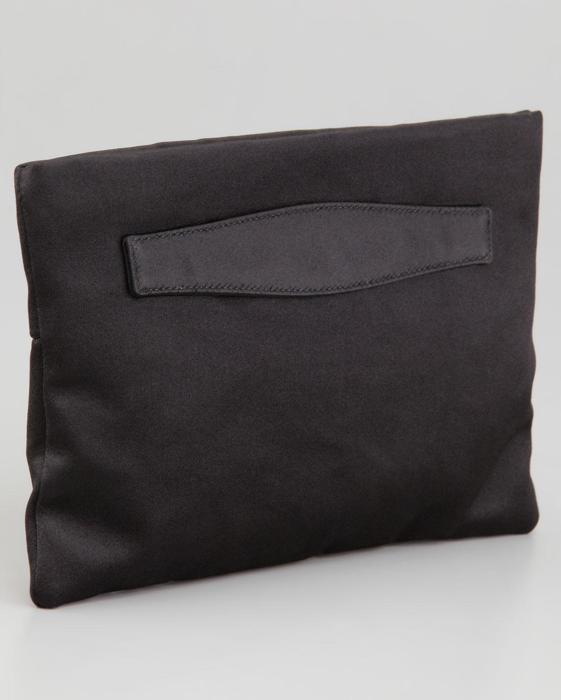 293c71158045 ... coupon code for prada satin clutch bag in black lyst b30d3 376b3