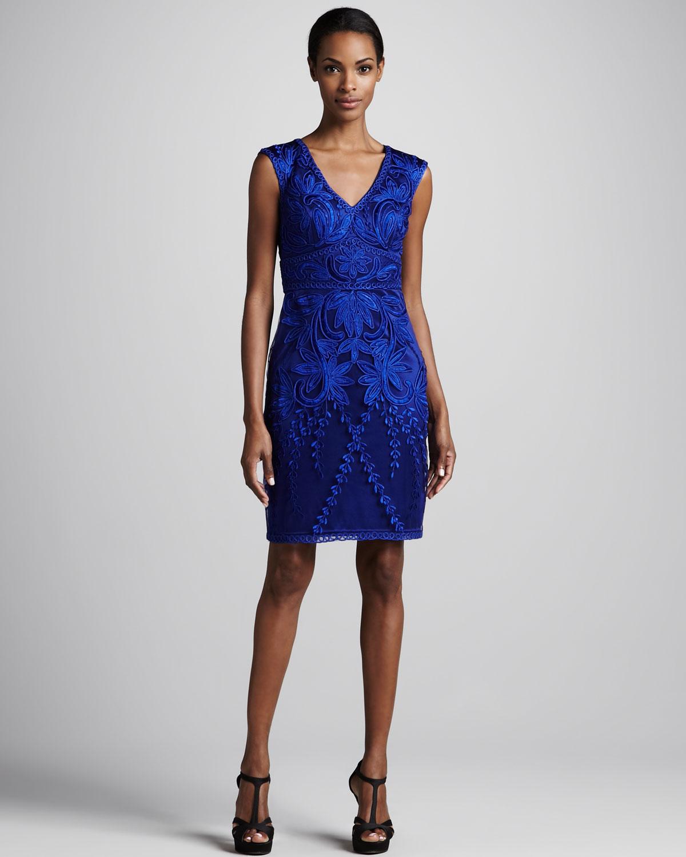 Sapphire Blue Cocktail Dress