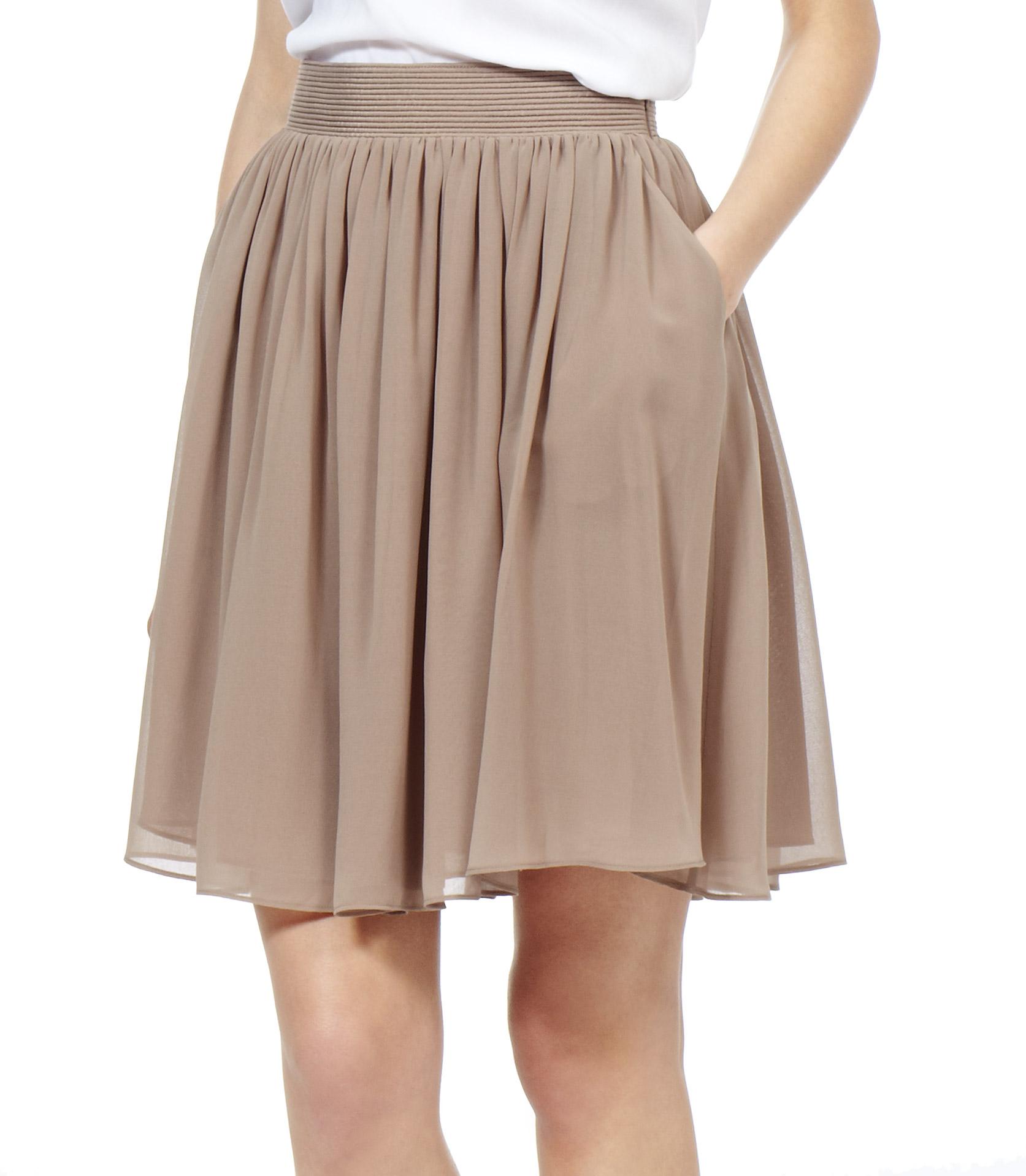Lyst Reiss Mason Flared Skirt In Natural