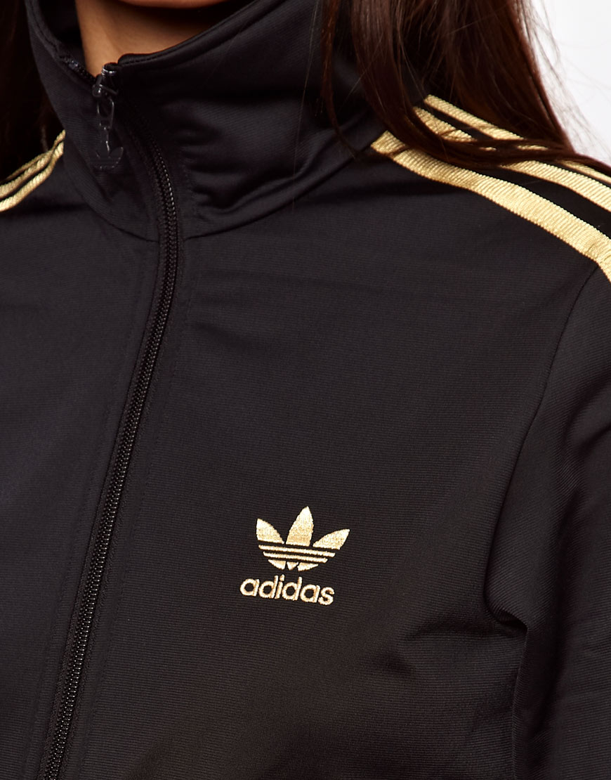 pretty nice 074cd 8d4e6 adidas Firebird Track Top in Black - Lyst