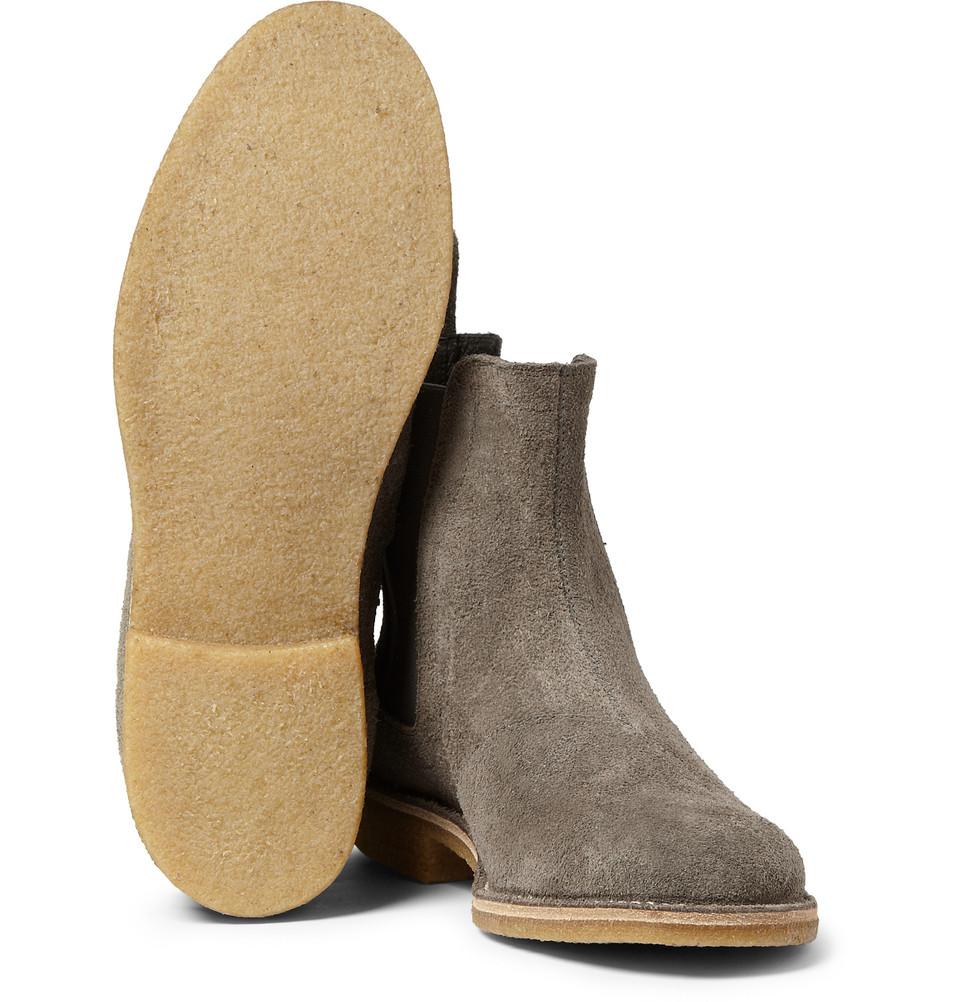 b5714de786625 Bottega Veneta Suede Chelsea Boots in Gray for Men - Lyst
