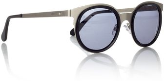 Cutler & Gross Steel Round Sunglasses - Lyst