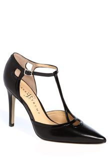 Ivanka Trump Ginger Tstrap Leather Pumps - Lyst