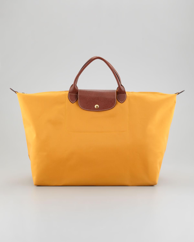 Longchamp Le Pliage Large Tote Bag in Orange | Lyst