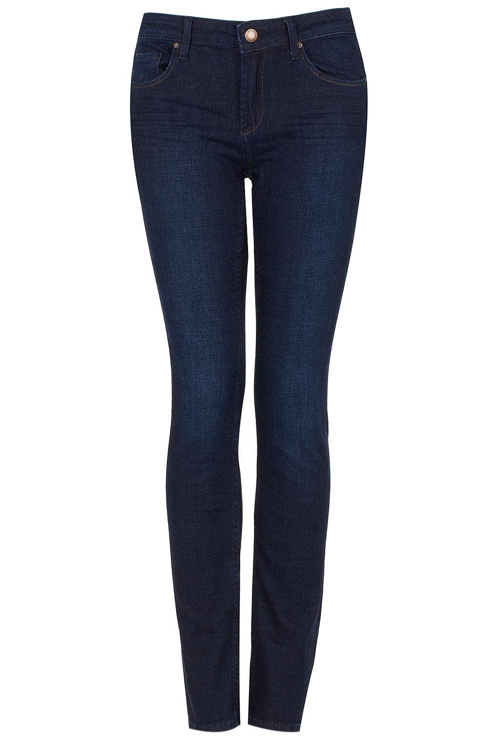 Topshop Moto Indigo Baxter Skinny Jeans in Blue | Lyst