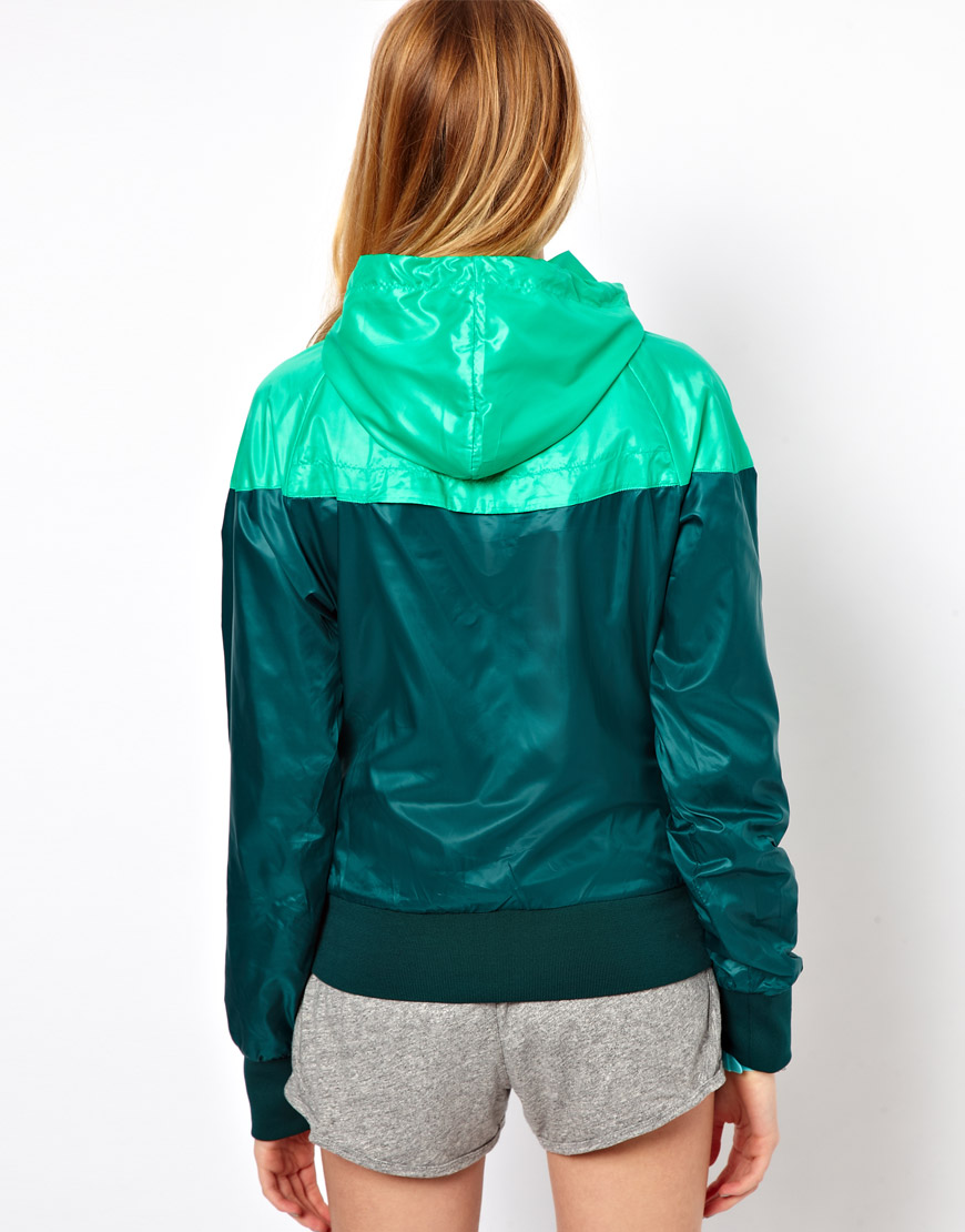 Nike Windrunner Green Blue