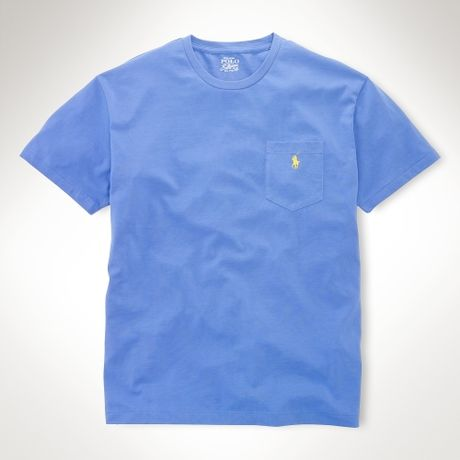 Polo ralph lauren classicfit pocket tshirt in blue for men for Polo t shirts with pocket online