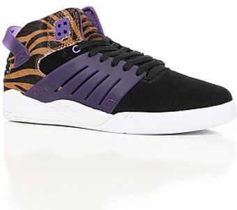 Supra The Skytop Iii Sneaker in Tiger Print Pony Hair Black Suede Purple Accents - Lyst
