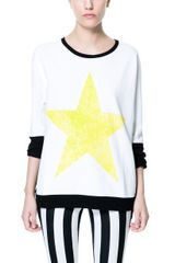 Zara Velour Sweater with Lime Star