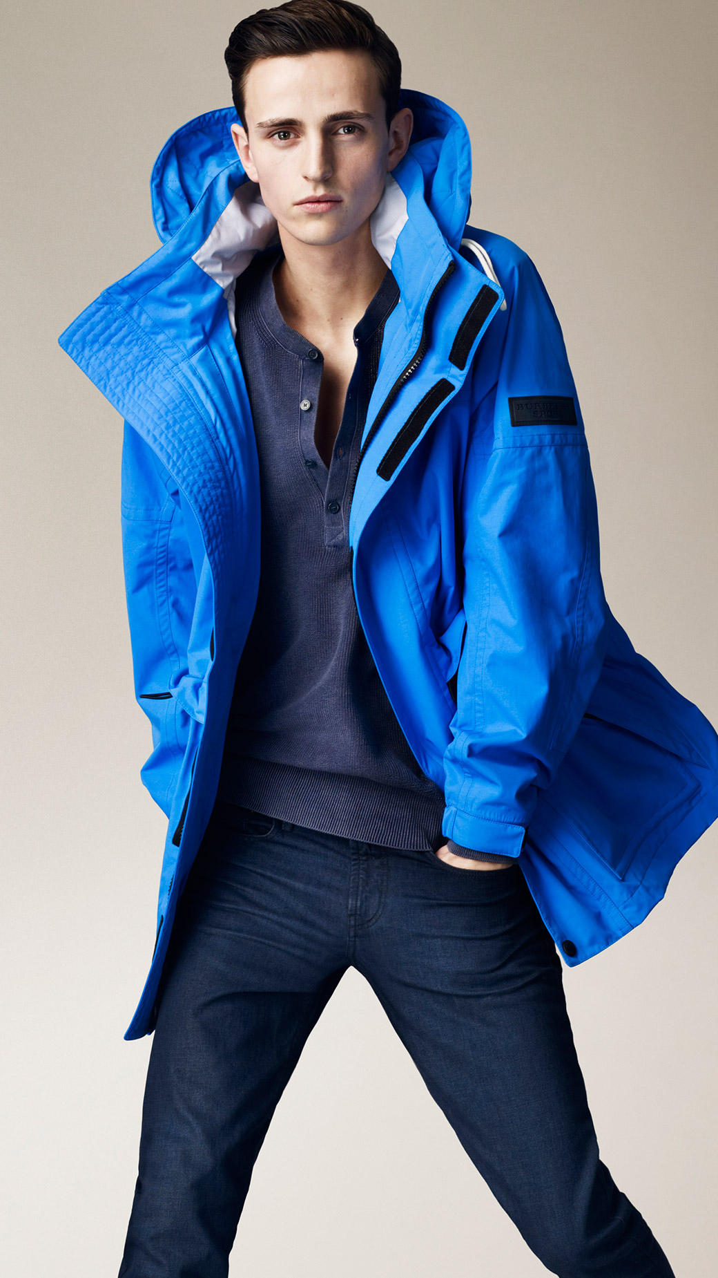 Burberry Brit Sport Collection Seam Sealed Sailing Jacket in Blue for Men