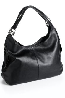 Calvin Klein Metallic Leather Hobo Bag - Lyst
