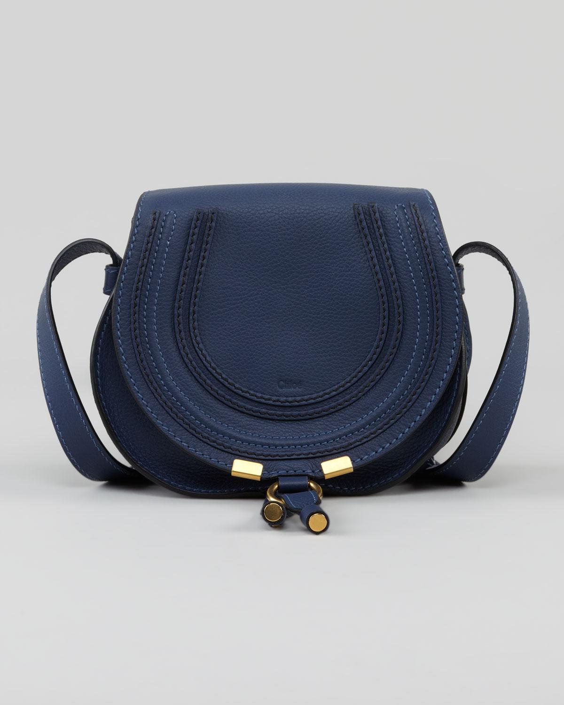 Chlo¨¦ Blue Calfskin Marcie Mini Crossbody Bag in Blue | Lyst