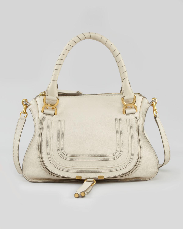 c82ec32d17 Chloé Natural Marcie Medium Shoulder Bag White